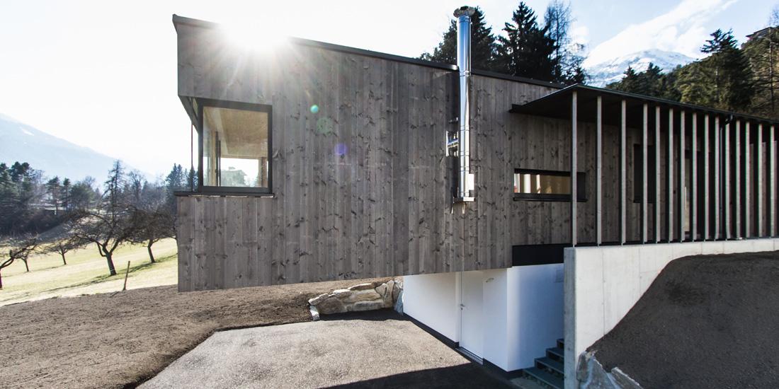 Haus nach Holzriegel-Bauweise
