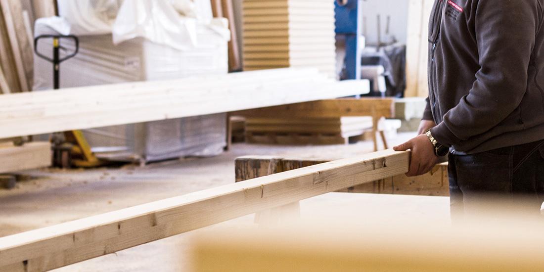 Holzriegelbauweise